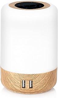 Lampe de chevet LED intelligente, 3 niveaux de luminosité, lampe de chevet multicolore avec fonction de temporisation, con...
