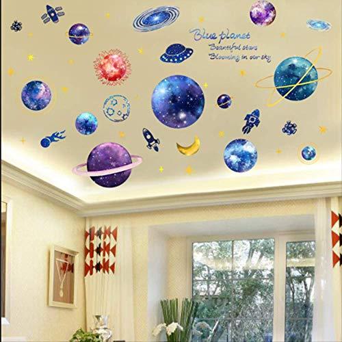 Dakdecoratie sterrenhemel plafond Cartoon Stickers muur Stickers Kinderen kamer lay-out behang zelfklevende slaapkamer