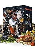 Gewürz Adventskalender 24x20g I Adventskalender mit 24 Gewürzspezialitäten I aromatischer Weihnachtskalender I Geschenkidee Gewürz Kalender I Gewürzset für die Adventszeit I Geschenkset Kalender