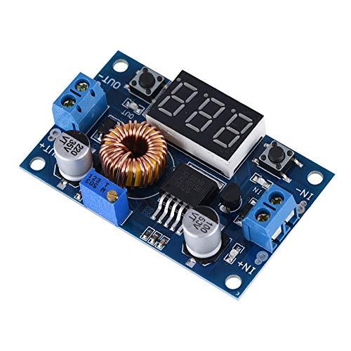 ASHATA Einstellbar DC Converter Modul, LCD Digital 5A 75W DC-DC Spannung Strom Buck-Modul Stabil Spannung Netzteil Adapter Modul Blau