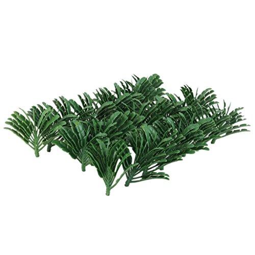 Palmier Arbre Modèle en Plastique pour Paysage Modélisme Ferroviaire Echelle 1:70 Lot de 50pcs Vert
