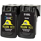 Yellow Yeti PG-510XL CL-511XL Cartuchos de Tinta remanufacturados Negro/Color para Canon Pixma iP2700 iP2702 MP230 MP240 MP250 MP260 MP270 MP280 MP480 MP490 MP495 MP499 MX320 MX330 MX350 MX360 MP252
