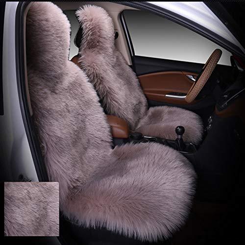 5 Sitzbezüge Winter Warme Sitzkissenbezug Australische Schaffell Wolle Autositzbezug für Vordersitz Weiche Flauschige Meisten Auto LKW SUV,A