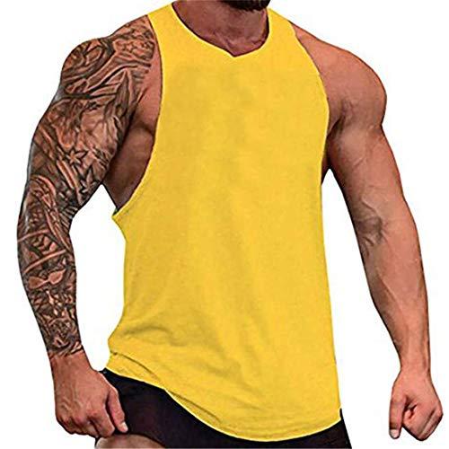 COWBI Palestra Canotta Bodybuilding Canottiera Senza Maniche Gym Shirt