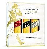 Johnnie Walker - Taster Set Gift Set - 3 x 5cl Miniature, Red, Black & Gold Label - Whisky