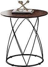 End Tables Side Table Living Room Bedroom Wooden Furniture Sofa Corner Table Bedside Table Black Carbon Steel Telephone Ta...