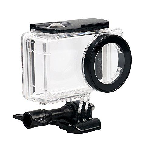 Kingwon Unterwasser-Gehäuse für Xiaomi Mijia 4K Mini Action-Kamera, 45 m, wasserdicht, mit Schraube und Montagebasis, transparent