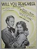 "sheet music cover: ""Will You Remember"""