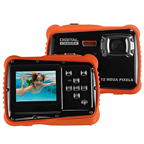 """SDDS Waterproof Kids Camera, 21MP HD with 2.0"""" LCD, 4 X Digital Zoom Flash and Mic Underwater Digital Camera, for Girls Boys Best Gifts Child Camera,Red"""