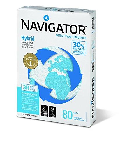 Navigator NHY0800018 - Paquete 500 hojas de papel A4, 80 gramos (pack de 5 unidades)
