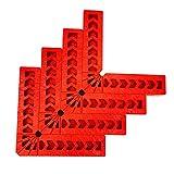 Vegena Piastre di posizionamento di 90 gradi 4', 4 pezzi plastica 90 gradi righello di angolo retto, Morsetto ad angolo retto supporto dell'angolo di posizione ausiliaria per scatole, porte, cornici