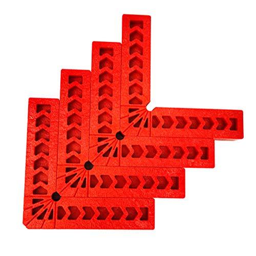 """Vegena Positionnement des carrés à 90 degrés 4"""", 4 Pièces Carrés de Positionnement en Plastique, Serre-Joint à Angle Droit équerres de positionnement, L Type Pinces à Angle Droit pour Boîte, Porte"""