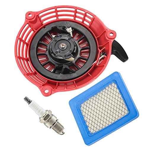 Oxoxo faciles à corde de lanceur avec filtre à air Bougie d'allumage pour Honda GC135 GC160 GCV135 GCV160 Générateur Moteur