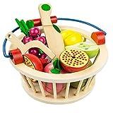 NOBRAND Juguetes de Cocina Frutas Y Verduras Cortadas En Madera para Niños Juguetes para...