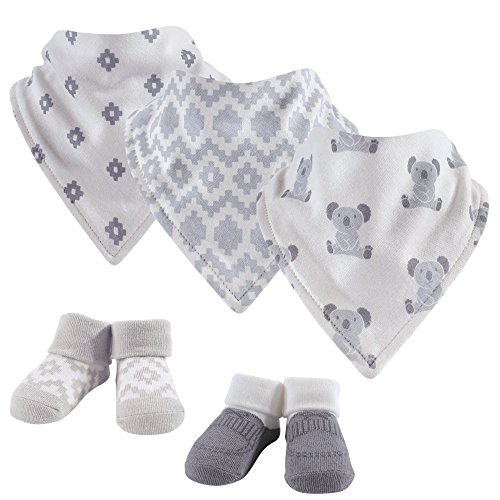 Hudson Baby Baby Boy Bandana Bibs & Socks, 5-Piece Set