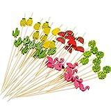 150 Pieces Handmade Fruit Skewers Cocktail Picks Fruits Toothpicks Drinks Food Decoration Sticks for...