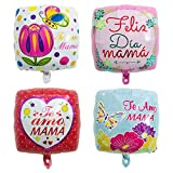 8Pcs Mother's Day Party Balloons Mother's day Party Decorations Spanish Te Amo mamá Foil Balloons for Happy Mothers Day Birthday Party Decorations Supplies