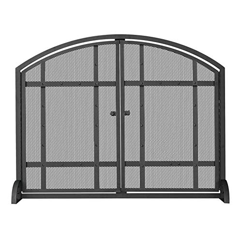 Fantastic Deal! Fireplace Screens YXX- Living Room Baby Safe Proof Fire Place Screens with Gate & Me...