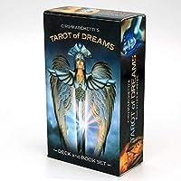 HEZHANG 78夢のタロット夢のタロット日本語83カード占い、初心者ゲームカードのためのciro Marchetti Deckの占い簿