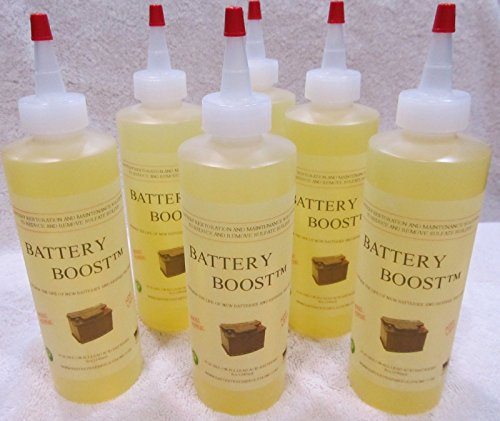 Battery Boost Liquid De-Sulfate Additive - Golf Cart Repair Solution Fix, Renew, Restore Kit