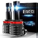 BEAMTECH H11 LED Bulb, 12000LM 50W Fanless In Line H8 H9 6500K Xenon...