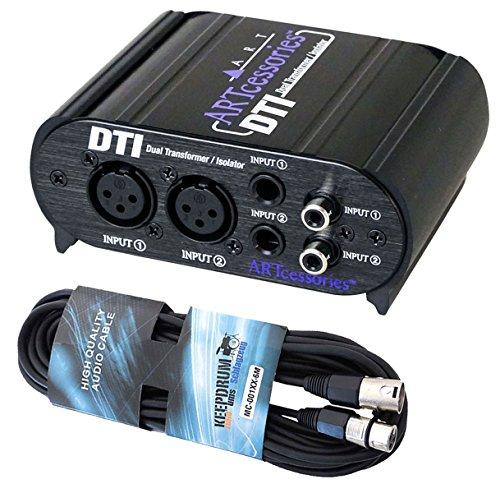 ART DTI passive DI-Box Hum Eliminator + XLR-Mikrofonkabel