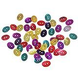 ZOOMY 50 Pezzi Bottoni ovali 2 Fori Madreperla Conchiglia Cucito Fai-da-Te