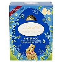 イースターバニーチョコレートエッグ Easter Bunny Egg 115g Lindt Milk Chocolate Gold Egg with Little Gold Bunny Easter Treats