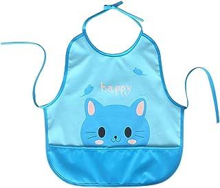 Neugeborenes Baby Junge Mädchen Kinder Karton Druck Lätzchen Wasserfest Speichel