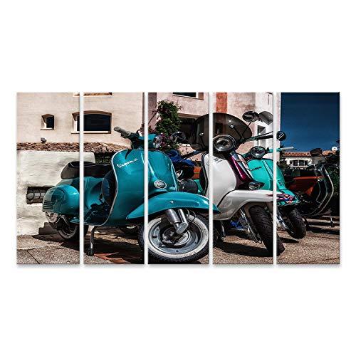 islandburner Cuadro en Lienzo Piaggio Vespa Vintage Porto Cervo Italia Agosto Piaggio Vespa Vintage Sprint Motor Scooter Moto Moto Cuadros Modernos Decoracion Impresión Salon