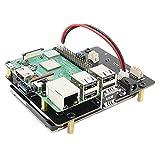 Geekworm Raspberry Pi 3 B+/3B SATA HDD/SSD Storage Expansion Board, X820 V3.0 USB 3.0 Mobile Hard Disk Module for 2.5 Inch SATA HDD/SSD/Raspberry Pi 3 Model B+ (B Plus)/3 B/ROCK64/Tinker Board