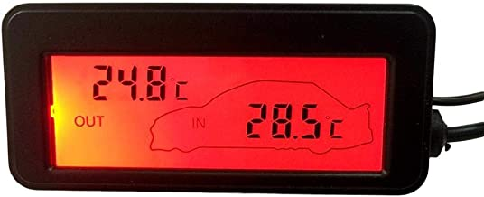 Int/érieur//Ext/érieur De Voiture LCD pour Camion Et Camion WATERFAIL Thermom/ètre Num/érique De Voiture DC12V Jauge De Compteur De Temp Deux R/étro/éclairage Peuvent /Être S/électionn/és