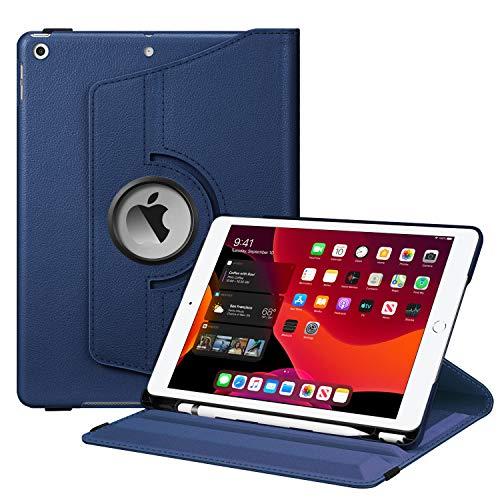"""Fintie Hülle für iPad 10.2 Zoll 2019, 360 Grad Rotierend Stand Schutzhülle Cover mit eingebautem Pencil Halter, Auto Schlaf/Wach Funktion für 10.2\"""" iPad 7. Generation, Marineblau"""