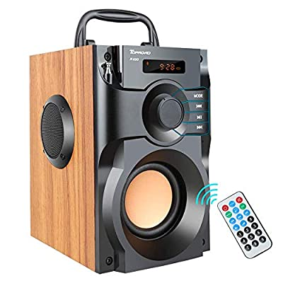 TOPROAD A100 Bluetooth Speaker Portable Wireless Stereo Bass Subwoofer with FM Radio Remote Control from TOPROAD