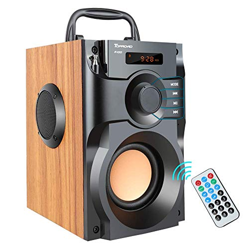 TOPROAD A100 Bluetooth Speaker Portable Wireless Stereo Bass Subwoofer with...