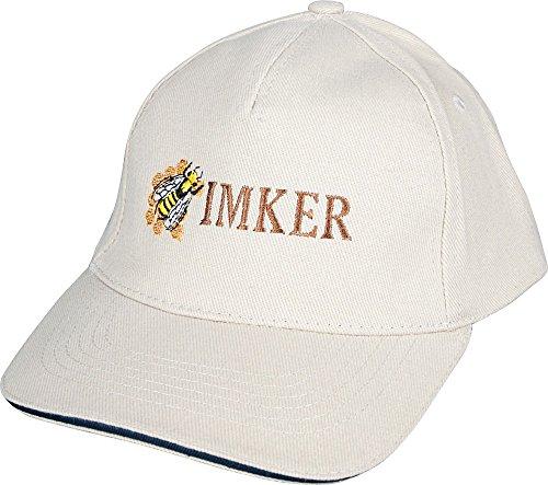 Fan-O-Menal Basecap - Cap mit Imker - Stick - Imker Biene - 69009 Weiss - Baumwollcap Baseballcap Schirmmütze Hut
