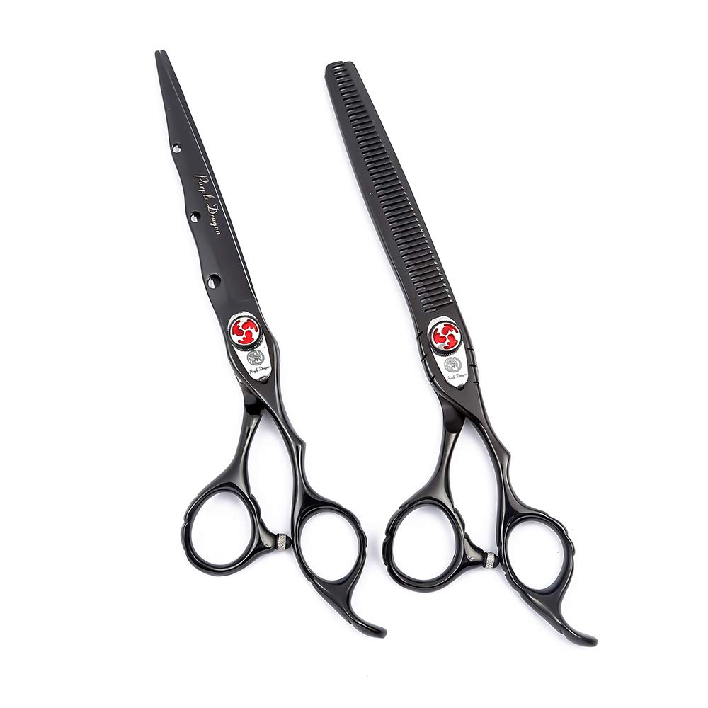 Harutake Professional Hair Cutting Scissors Shears Barber Thinning 11.11 11.11  Japanese 11c Stainless Steel Bamboo Handler+ Hidden Tension Screw with