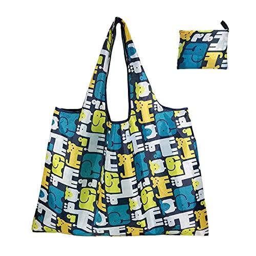 HYMD Bolsas de la Compra 1 PC Bolsas de Compras Plegables Eco Reutilizable Bolsas de Almacenamiento (Color : 2, Size : 66x53 CM)