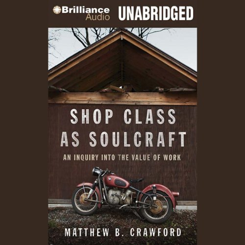 Shop Class as Soulcraft audiobook cover art