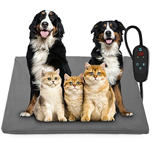 petnf Upgraded Pet Heating Pad for Dogs Cats with Timer