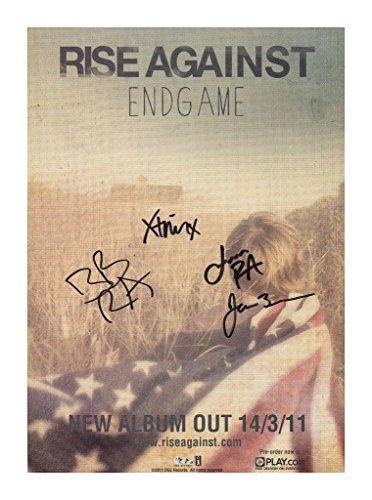 Rise Against Signiert Autogramme 21cm x 29.7cm Plakat Foto