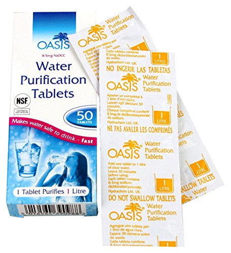 HIGHLANDER Wasserentkeimer Aqua Clear Tabletten zur Wasseraufbereitung 50 Stück - Purificador de Agua, Talla Standard