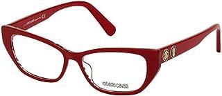نظارات Roberto Cavalli RC 5108 068 طباعة حمار وحشي باللونين الأحمر والوردي، لون ذهبي فاتح R