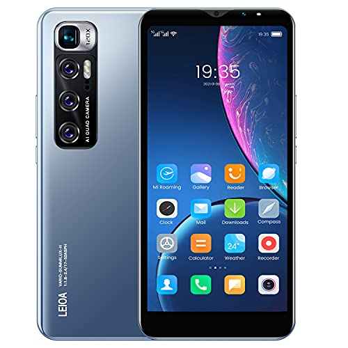 Cheap Android Mobile Phones, 5.5 Inch IPS Touchscreen,Quad-Core 4GB Cell Phones, Dual Sim Dual Cameras Smartphone, Support:Bluetooth, GPS, Wifi etc. (M10-Blue)