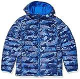 Amazon Essentials Hooded Puffer Jacket Chaqueta, Blue Camo, 2T