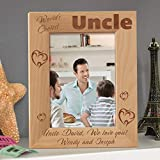World's Coolest Uncle Personalized Wooden Picture Frame 5' x 7' Brown (Vertical)