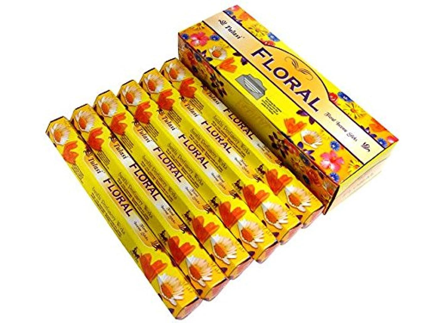 外出雰囲気有害なTULASI(トゥラシ) フローラル香 スティック FLORAL 6箱セット