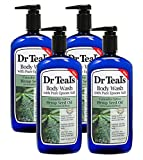 Dr Teal's Body Wash 4-Pack (96 Fl Oz Total) Hemp Seed Oil