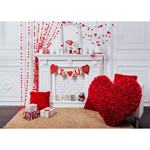 Bokeh Love Red Heart Photography Backdrop Valentines Day Photo Booths Props Photo Background Mother Day Supplies Party Banner Vinyl 125 X 80cm Wedding Bridal Shower Decorations