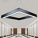 Creado Personalidad LED Oficina Hierro Colgante De Luz Cuadrado Moderno Sencillo Reunión Modelado Lámparas Colgantes Recepción Bar Club Habitación Iluminación De Techo L60CM